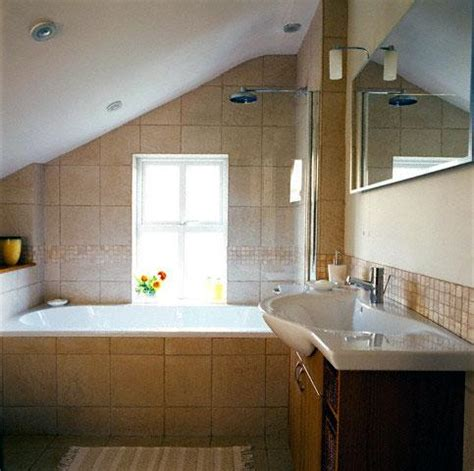 bathroom slope 1920s bathroom sloped ceiling attic bathrooms with