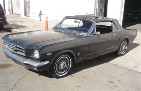 1965 mustang convertible project for sale seller 1965 ford mustang gt k code convertible