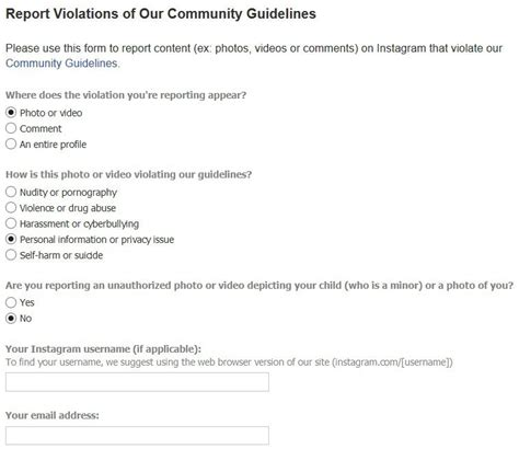 report section 8 violations how to report problems to google facebook other web
