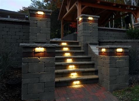 landscape lighting for retaining walls 39 best images about sleeper retaining wall steps on more gardens sleeper wall