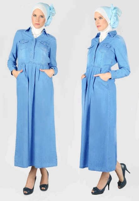 P Blouse Bhn Katun Denim Silk ready and ecer just for resellers