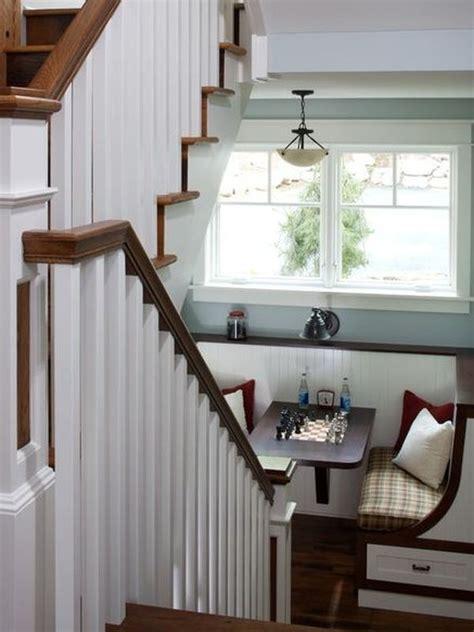 Bookshelf Seat Make That Staircase Landing Gorgeous