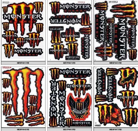 Monster Energy Sticker Rot by Buy Monster Energy Sticker Decal Motocross Atv Dirt 6