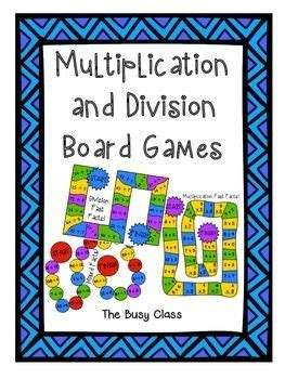 multiplication and division printable board games 17 best images about mult div games on pinterest