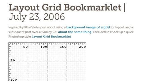Layout Grid Bookmarklet | weekly freebies 15 useful bookmarklets for designers