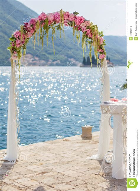Wedding Arch Photos by Wedding Arch With Flowers Stock Photo Image 49840318