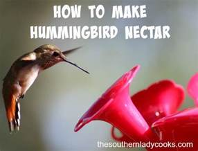 how to make hummingbird nectar the southern lady cooks