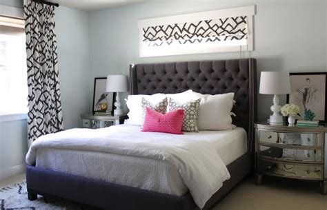 gray tufted headboard reamy bedroom with charcoal gray tufted headboard with