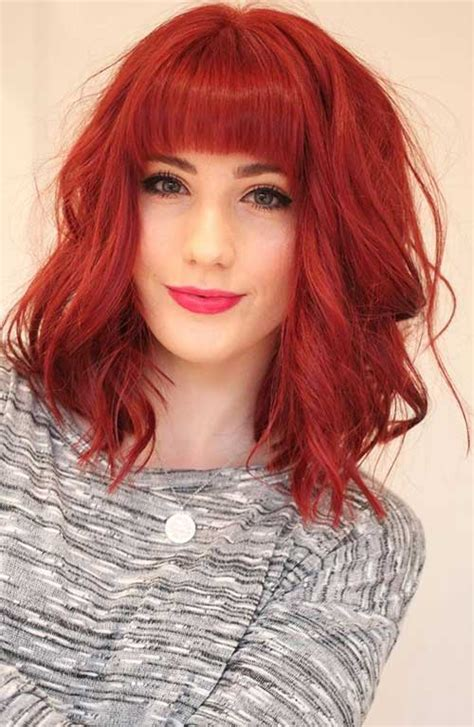 hairstyles for mid length red hair 15 new shoulder length bob hairstyles bob hairstyles