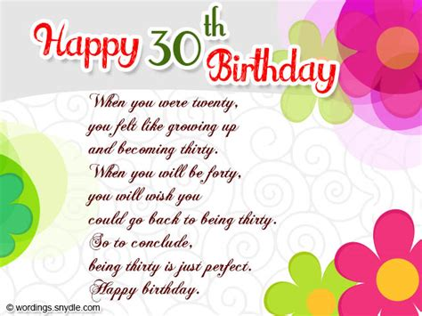 Happy Birthday Wishes 30 30th Birthday Wishes Wordings And Messages