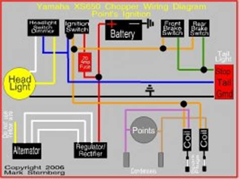 75 xs650b wiring circuit diagram 76 xs650c 75 wiring