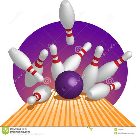 bowling image stock image 4364261