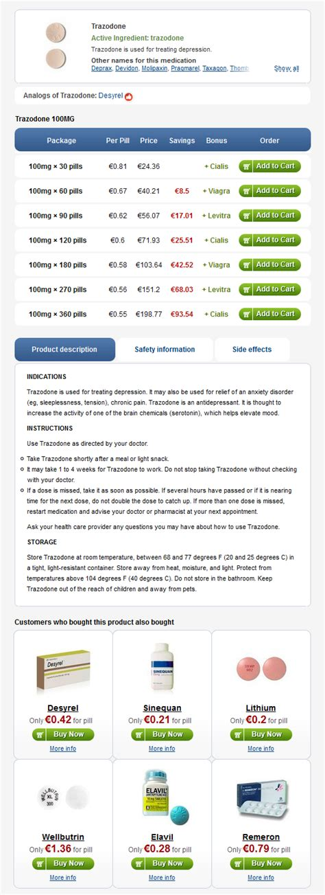 Trazadone Detox by Trazodone