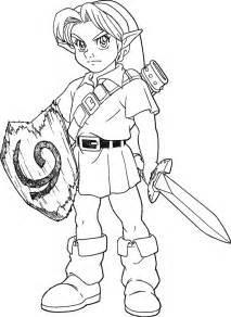 link coloring pages link ocarina of time lineart by skylight1989 on