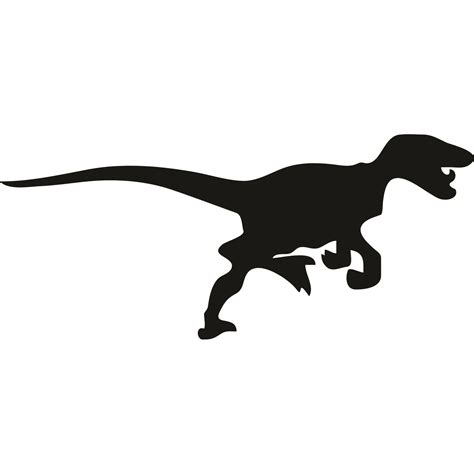 Red Kitchen Furniture by Velociraptor Dinosaur Silhouette Wall Sticker World Of