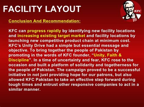 kfc facility layout kfc