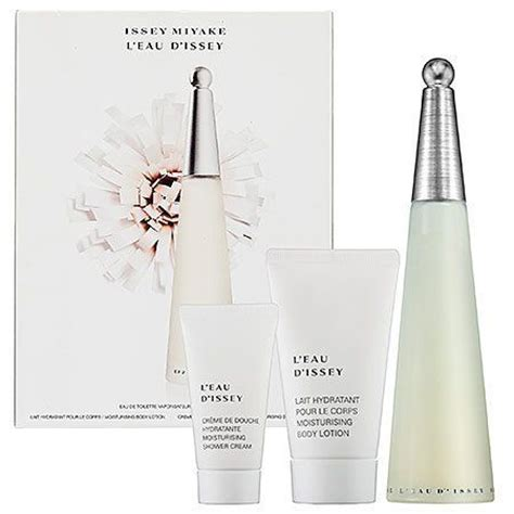 issey miyake l eau d issey 3 piece perfume gift set for