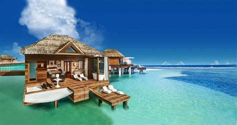 Luxury Dining Room Set by Sandals To Add More Overwater Bungalows In Jamaica