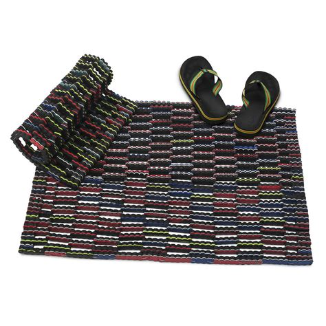 Unique Doormats Black Flip Flop Mats Design Bookmark 8276