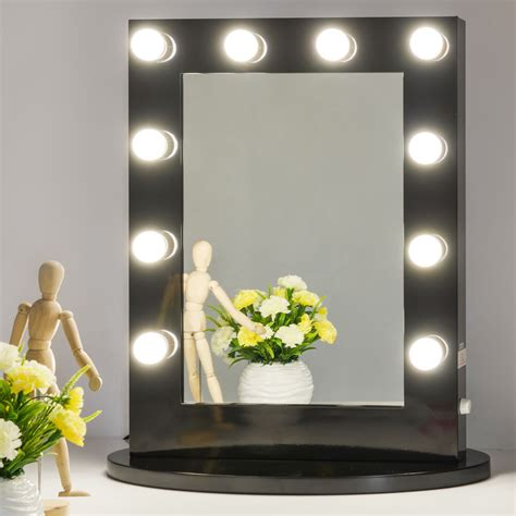 Vanity Mirror Light by Black Makeup Vanity Mirror With Light Dimmer Stage Mirror Ebay