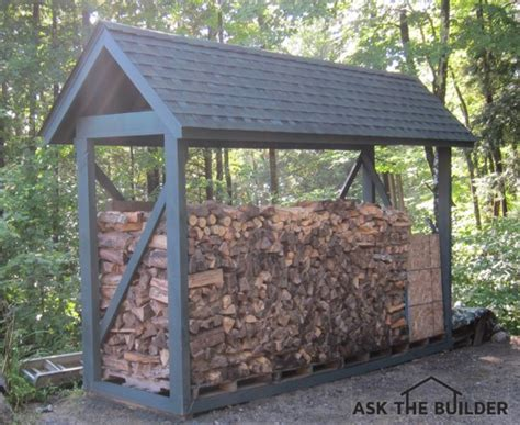 diy firewood rack with roof how to build a custom firewood shelter ask the