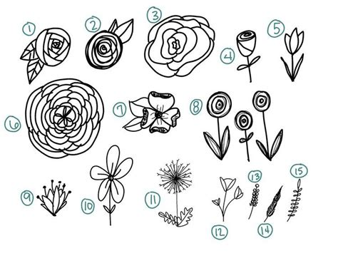doodle drawing flowers how to draw 15 effortless flowers for bible journaling