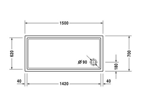 dimensioni doccia rettangolare duravit starck slimline piatto doccia rettangolare