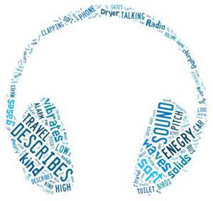 Here is a couple of examples of word clouds the kids made on sound