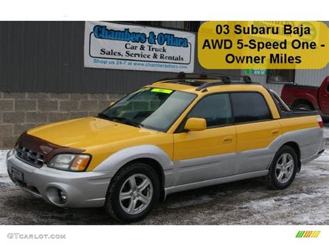 yellow subaru baja 2003 baja yellow subaru baja 42063370 photo 5 gtcarlot