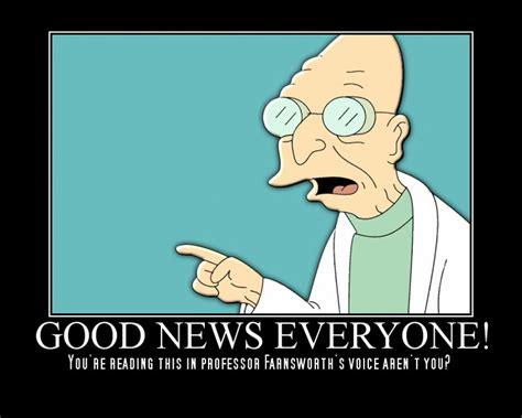 Good News Meme - reddebrek s bowl of saccharine grumblings good news everyone