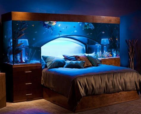 Bed With Aquarium Headboard by Water Bed Canopy Beds