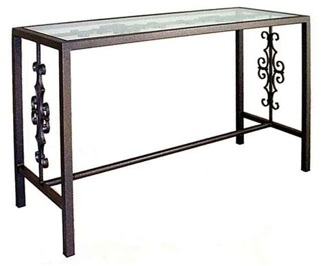 iron and glass sofa table rod iron sofa table wrought iron sofa table oware info