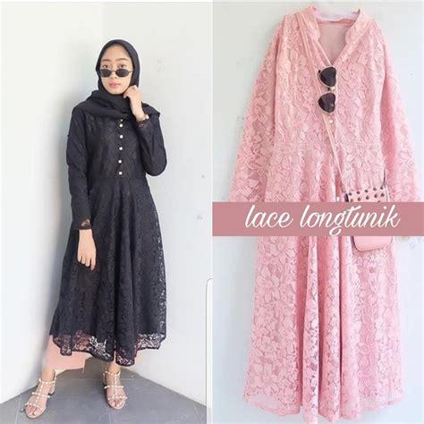 Tunik Murah Tunik busana muslim murah lace tunik grosir baju muslim