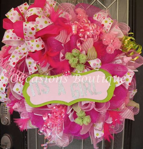 17 Best Images About Baby Wreaths On Pinterest Its A Baby Shower Door Decorations