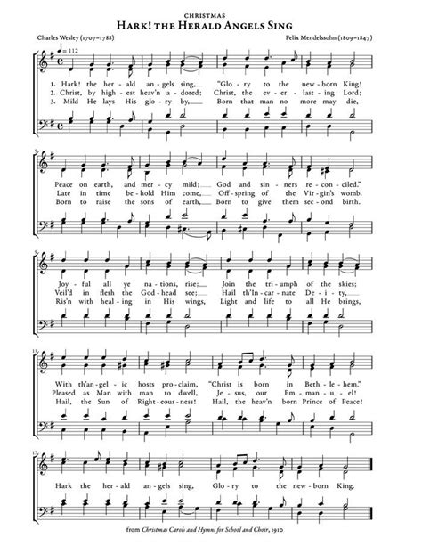 printable lyrics hark the herald angels sing hark the herald angels sing christmas carol purple