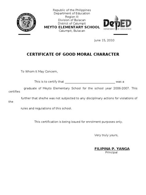 certificate of good moral character sle doc image