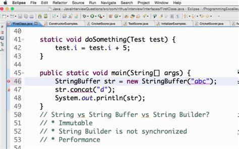 java string vs stringbuffer vs stringbuilder youtube