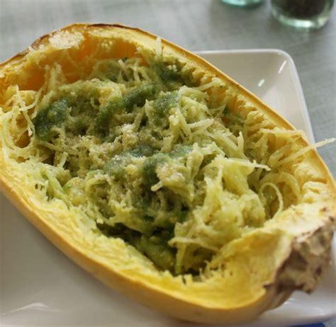 garlic pesto spaghetti squash recipe