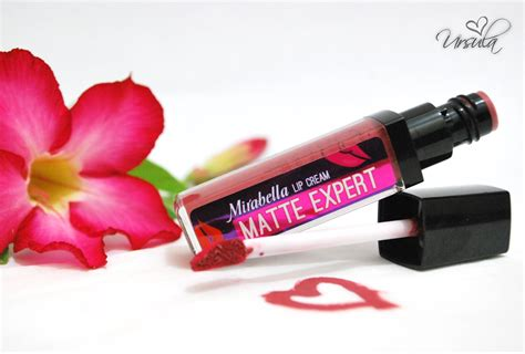 Lipstik Mirabella Matte Expert review mirabella lip matte expert 05 ursula meta
