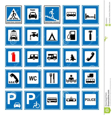 imagenes de simbolos informativos road symbols cartoon vector cartoondealer com 20255805