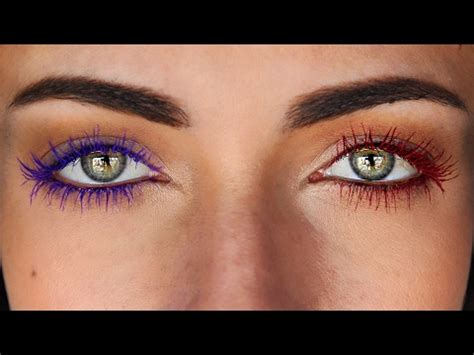 colored mascara create your own diy colored mascara fom any eyeshadow