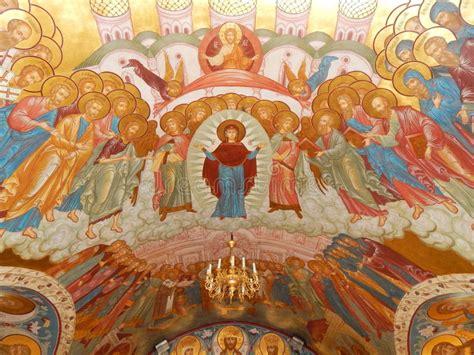 malerei auf der decke der kirche der geburt christi
