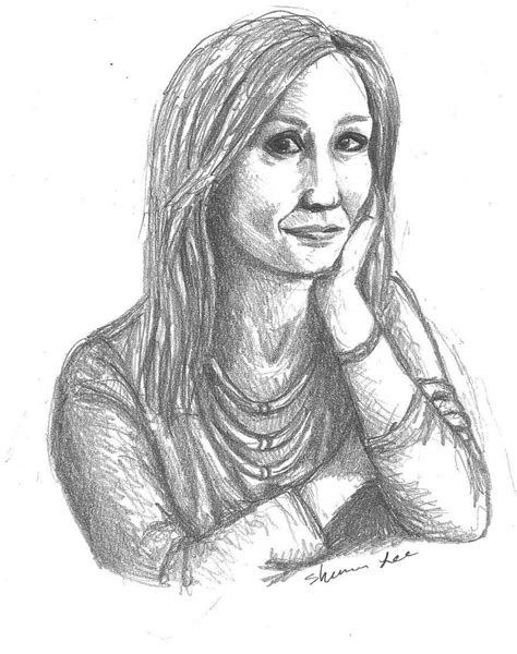 J K Rowling Sketches by Rowling Beyond Magic In The Casual Vacancy Arts