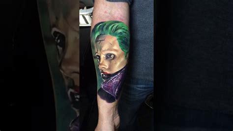 joker tattoo youtube joker tattoo jared leto suicide squad youtube