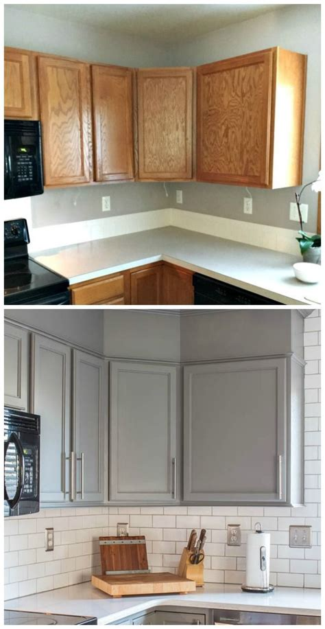 painting kitchen cabinets gray best 25 refinished kitchen cabinets ideas on