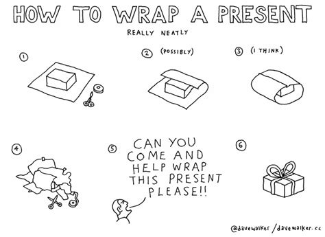 how to wrap a gift how to wrap a present dave walker