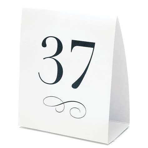 wedding table number cards table number tent style card confetti co uk