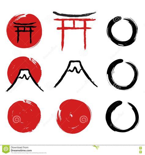 imagenes simbolos japoneses s 237 mbolos japoneses de la caligraf 237 a ilustraci 243 n del vector