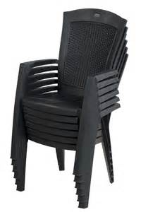 allibert minnesota chaise empilable graphite allibert