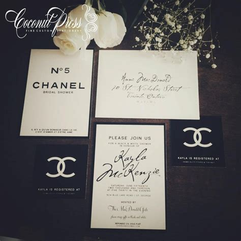 Coconut Press Chanel Invitation Suite Paris Party Pinterest Chanel Invitation Template